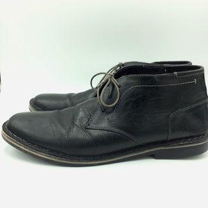 Steve Madden Harken Black Leather Boots